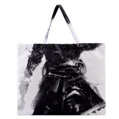 Assassins Creed Black Flag Tshirt Zipper Large Tote Bag