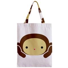 Three Wise Monkeys Zipper Classic Tote Bag