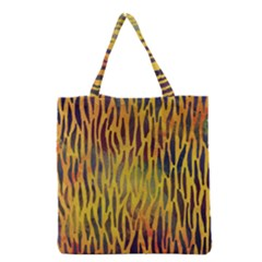 Colored Tiger Texture Background Grocery Tote Bag