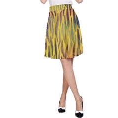 Colored Tiger Texture Background A Line Skirt