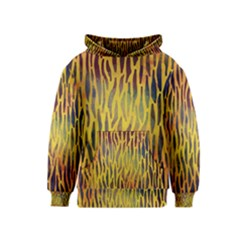 Colored Tiger Texture Background Kids  Pullover Hoodie