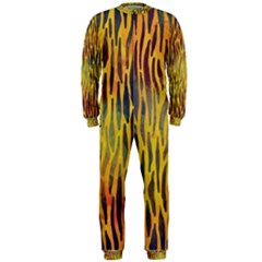Colored Tiger Texture Background OnePiece Jumpsuit (Men)