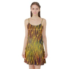 Colored Tiger Texture Background Satin Night Slip