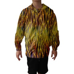 Colored Tiger Texture Background Hooded Wind Breaker (kids)