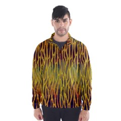 Colored Tiger Texture Background Wind Breaker (Men)