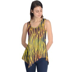 Colored Tiger Texture Background Sleeveless Tunic