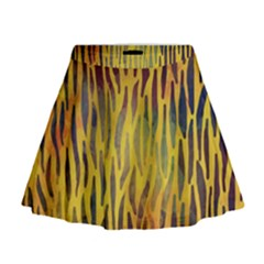 Colored Tiger Texture Background Mini Flare Skirt