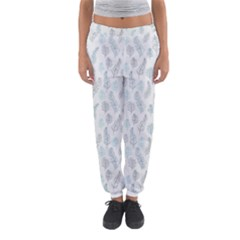 Whimsical Feather Pattern, Dusk Blue Women s Jogger Sweatpants