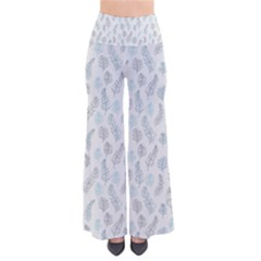 Whimsical Feather Pattern, Dusk Blue Pants
