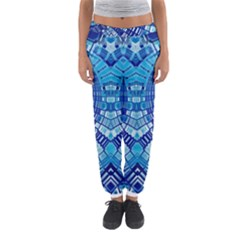 Blue Mirror Abstract Geometric Women s Jogger Sweatpants