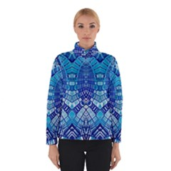 Blue Mirror Abstract Geometric Winterwear