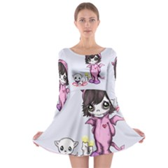 Unprecious Moments part II Long Sleeve Skater Dress