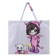 Unprecious Moments part II Zipper Large Tote Bag