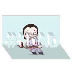 Plushie Bateman #1 DAD 3D Greeting Card (8x4)
