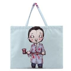 Plushie Bateman Zipper Large Tote Bag