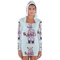 Plushie Bateman Women s Long Sleeve Hooded T-shirt
