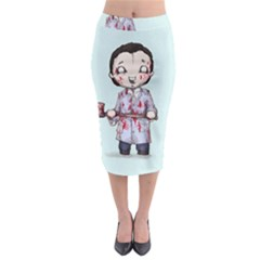 Plushie Bateman Midi Pencil Skirt
