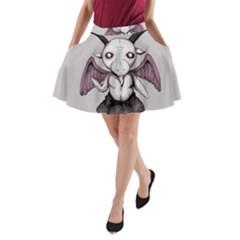 Plushie Baphomet A-Line Pocket Skirt