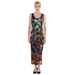 Las Vegas Nevada Ghosts Fitted Maxi Dress