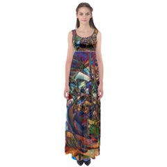 Las Vegas Nevada Ghosts Empire Waist Maxi Dress