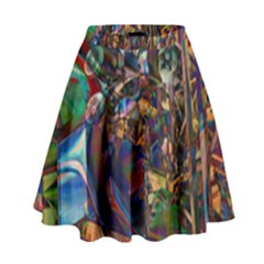 Las Vegas Nevada Ghosts High Waist Skirt