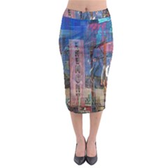 Las Vegas Strip Walking Tour Midi Pencil Skirt