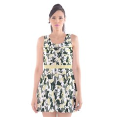 Camouflage Scoop Neck Skater Dress