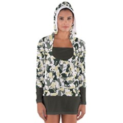 Camouflage_01 Women s Long Sleeve Hooded T-shirt