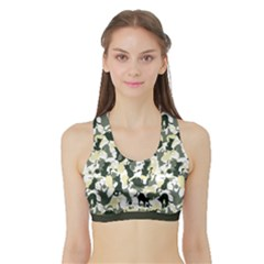 Camouflage 01 Women s Sports Bra With Border