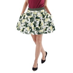Camouflage_01 A-Line Pocket Skirt