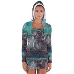 Vegas The Deep End  Women s Long Sleeve Hooded T-shirt