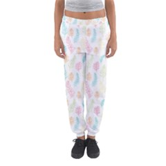 Whimsical Feather Pattern,fresh Colors, Women s Jogger Sweatpants