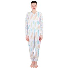 Whimsical Feather Pattern,fresh Colors, OnePiece Jumpsuit (Ladies)