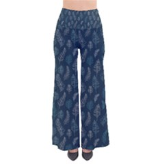 Whimsical Feather Pattern, Midnight Blue, Pants
