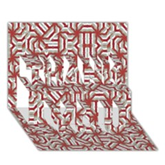 Interlace Tribal Print THANK YOU 3D Greeting Card (7x5)