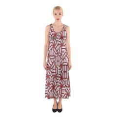 Interlace Tribal Print Sleeveless Maxi Dress