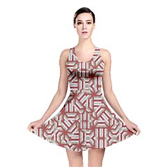 Interlace Tribal Print Reversible Skater Dress