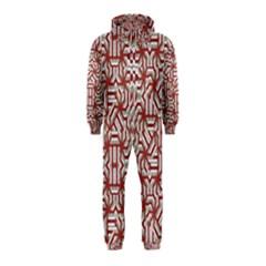 Interlace Tribal Print Hooded Jumpsuit (Kids)