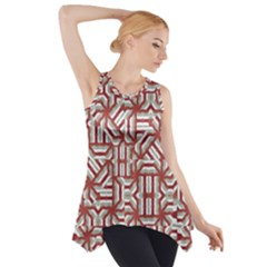 Interlace Tribal Print Side Drop Tank Tunic