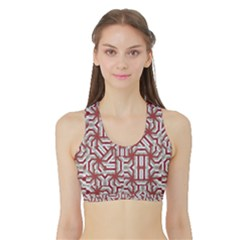 Interlace Tribal Print Women s Reversible Sports Bra with Border