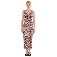 Interlace Tribal Print Fitted Maxi Dress
