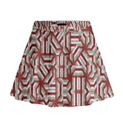 Interlace Tribal Print Mini Flare Skirt