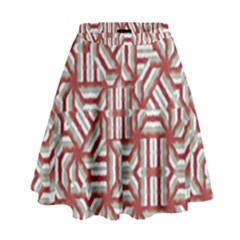 Interlace Tribal Print High Waist Skirt