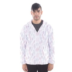 Whimsical Feather Pattern, soft colors, Hooded Wind Breaker (Men)