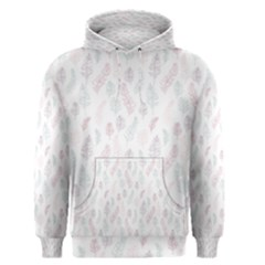 Whimsical Feather Pattern, soft colors, Men s Pullover Hoodie