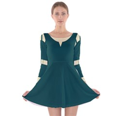 Archer Dress Long Sleeve Velvet Skater Dress