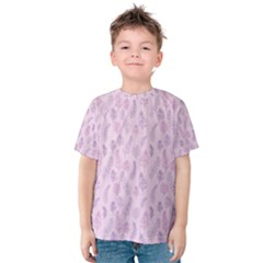 Whimsical Feather Pattern, pink & purple, Kid s Cotton Tee