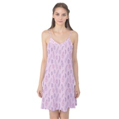 Whimsical Feather Pattern, pink & purple, Camis Nightgown