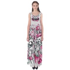Pink Zef Empire Waist Maxi Dress