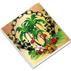 Tropical Design With Flamingo And Palm Tree Small Memo Pads
